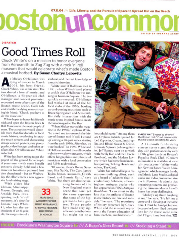 Good Times Roll, The Boston Globe Magazine, July 11, 2004