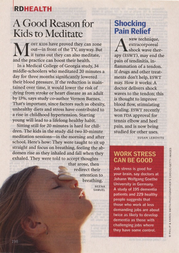 Shocking Pain Relief, Reader's Digest, April 2005, Page 198