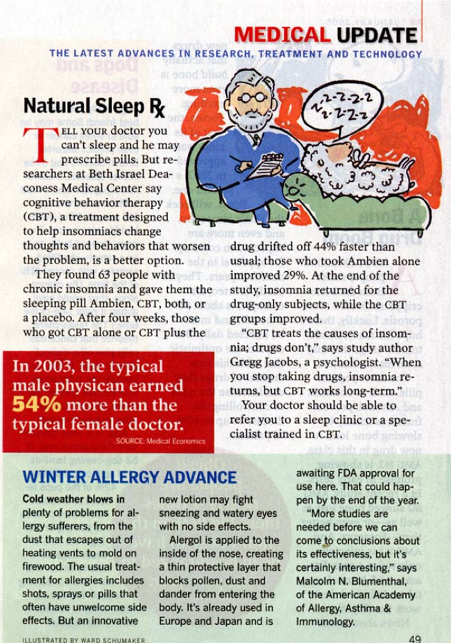 Natural Sleep Rx, Reader's Digest, January 2005, Page 49