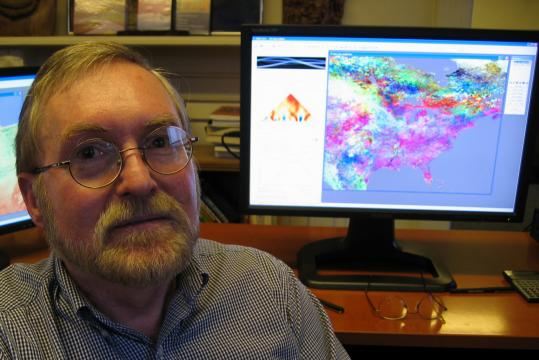Ron Eastman of Waltham wrote one of the most widely distributed software packages used to study and track the planet's natural resources.