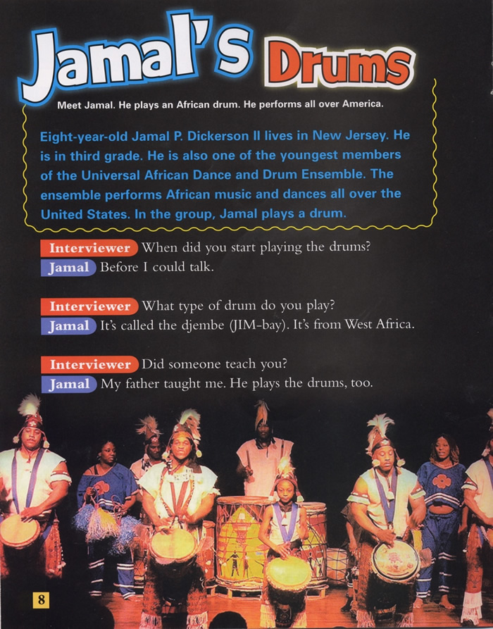 Jamal's Drums, Drum Beats, Page 8