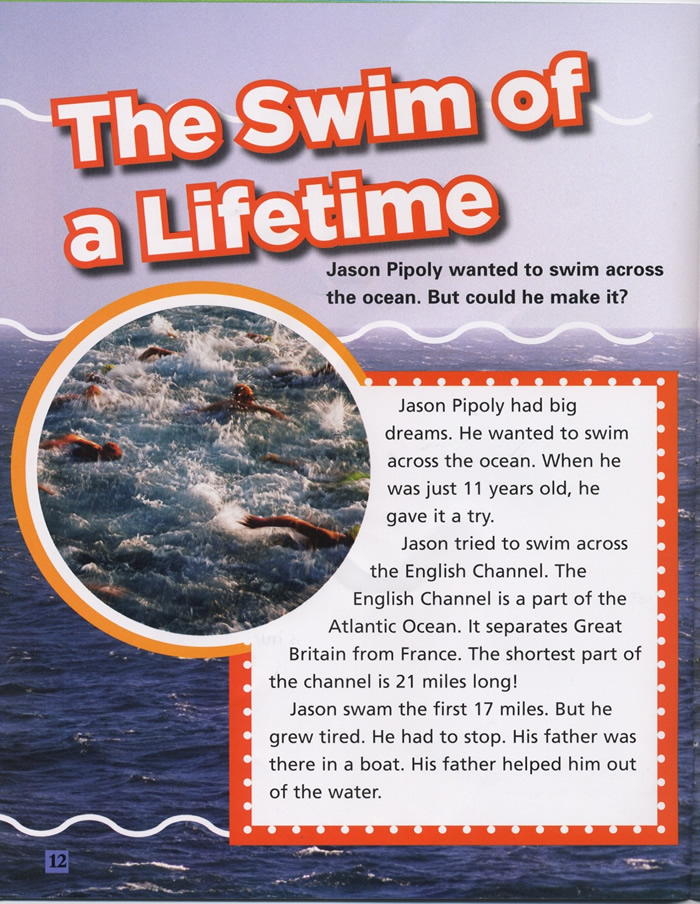 The Swim of a Lifetime, Water, Page 12
